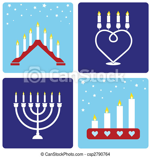 Four Christmas candleholders - csp2790764