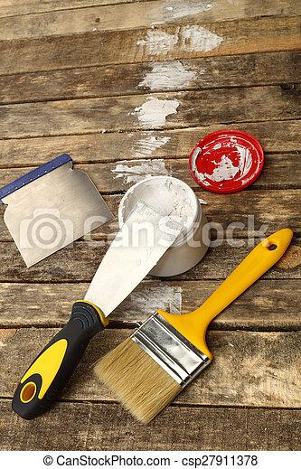 image de mastic couteau p te fin haut csp27911378 recherchez des photographies des. Black Bedroom Furniture Sets. Home Design Ideas