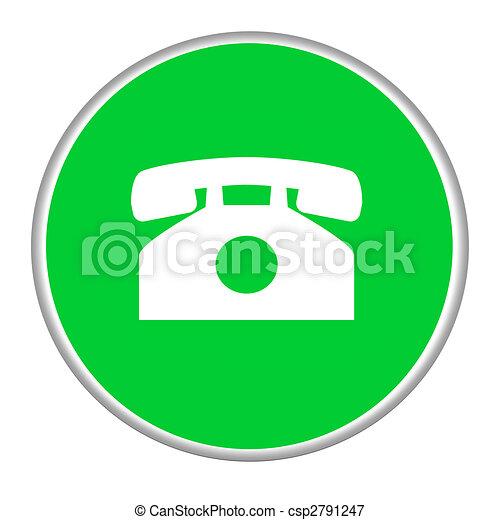 Telephone contact button - csp2791247
