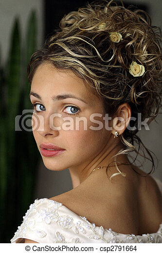 Beautiful young adult bride - csp2791664