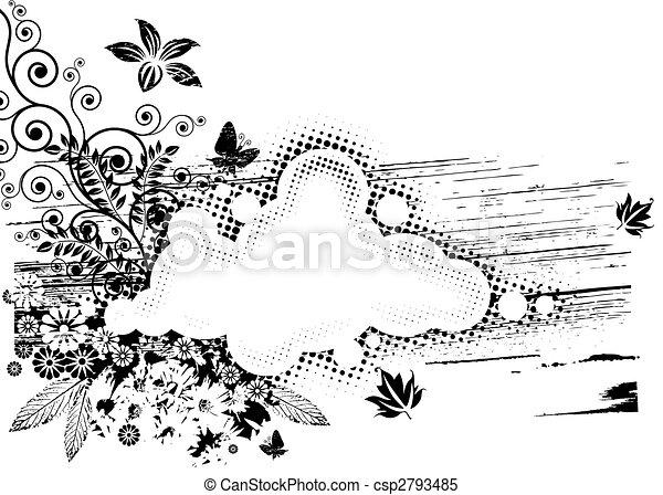 Grunge Flora Composition - csp2793485