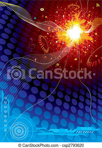 Technology Space Explosion - csp2793620