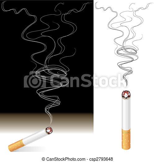 Smoke And Cigarette - csp2793648