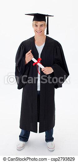 Teen Guy Celebrating Graduation - csp2793829
