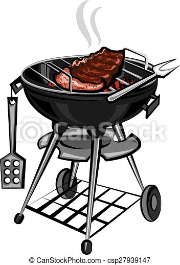 grill with meat - csp27939147