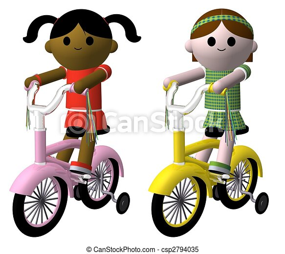Girls on bikes - csp2794035