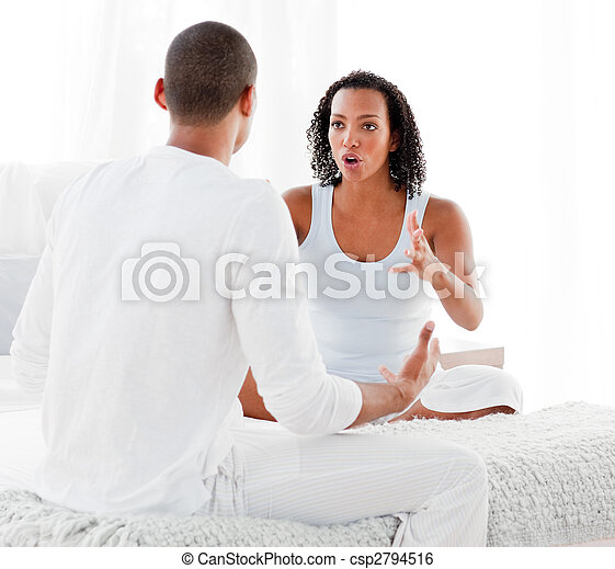 Young couple having an argument - csp2794516