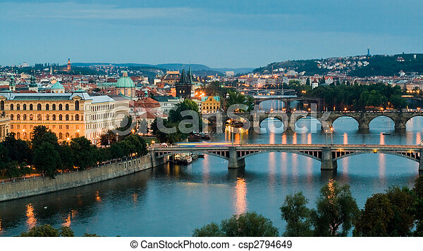 Prague and the Vltava River - csp2794649