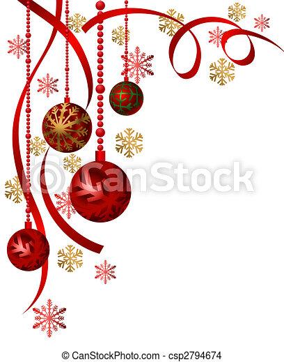 Zeichnung von weihnachten verzierungen hintergrund abbildung mit csp2794674 suchen - Grafik weihnachten kostenlos ...