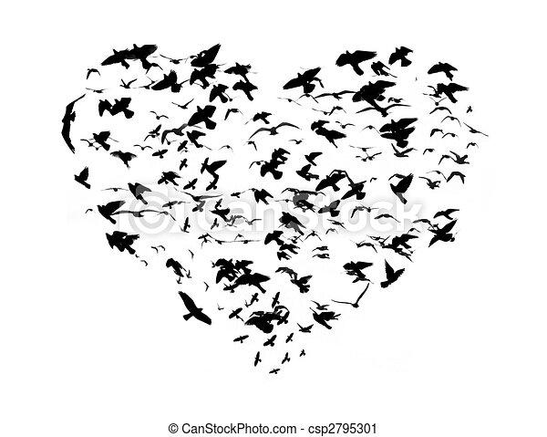 Comment dessiner des oiseaux dans le ciel - Dessin oiseau en vol ...
