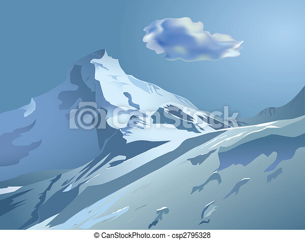 snowy mountains - csp2795328
