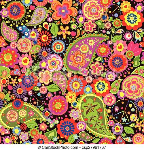 clip art vecteur de floral papier peint symbolique. Black Bedroom Furniture Sets. Home Design Ideas