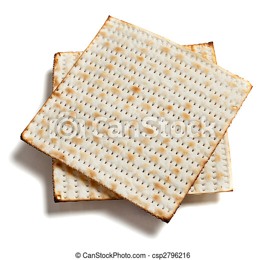 matza bread on white - csp2796216