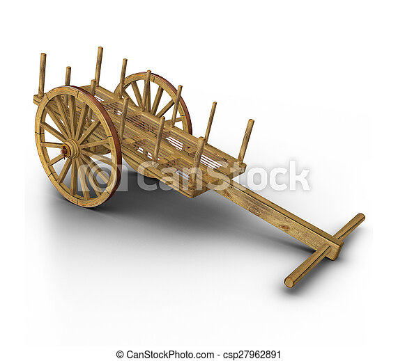 Stock Image of Two oxen in yoke pulling a cart - Pair of oxen in a ...
