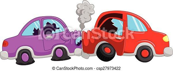 Illustration vecteur de voiture accident dessin anim vecteur illustration de - Coloriage cars accident ...