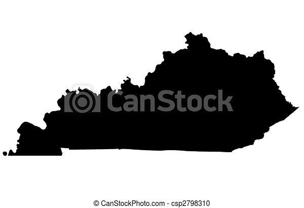 Commonwealth of Kentucky - white background - csp2798310