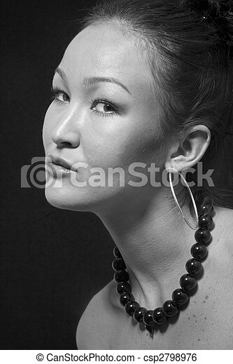 Portrait of the beautiful girl with the Asian appearance - csp2798976