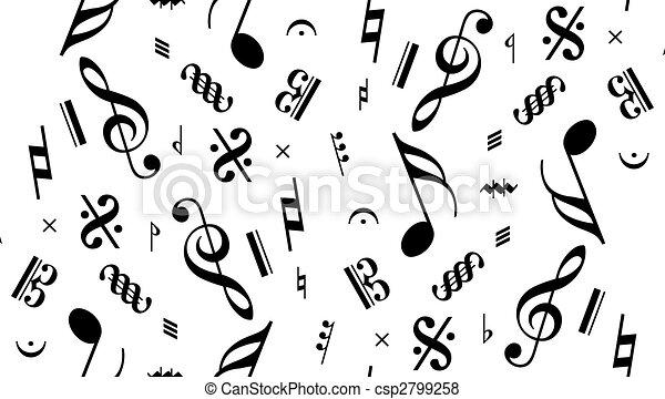 music note seamless - csp2799258
