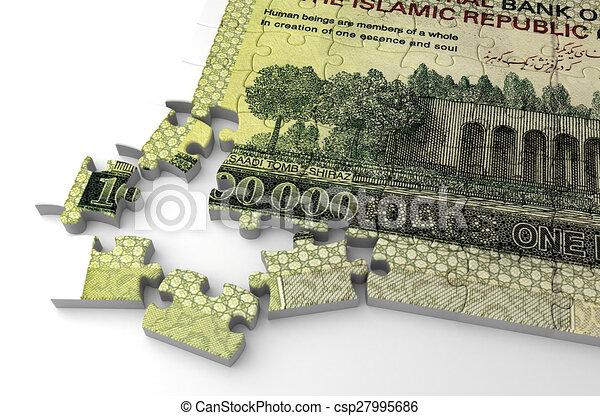 Iranian Rial Puzzle - csp27995686
