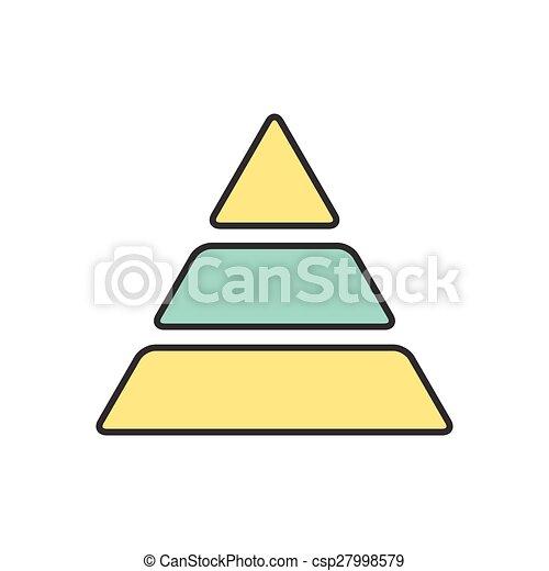 图标, 矢量, eps10, 金字塔 - csp27998579