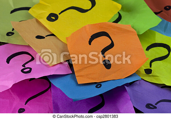 questions or decision making concept - csp2801383