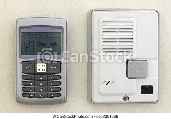 Security system keypad and intercom - csp2801666