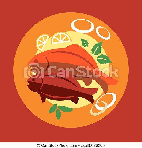 Salmon Dinner Clip Art