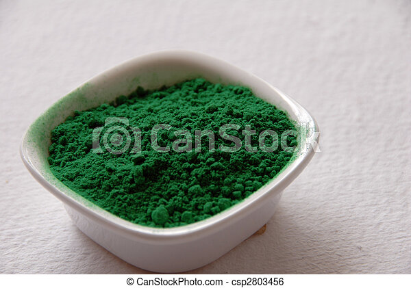 green color powder for holi festival - csp2803456