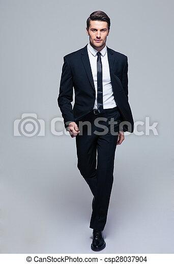 Full length portrait of a fashion male model