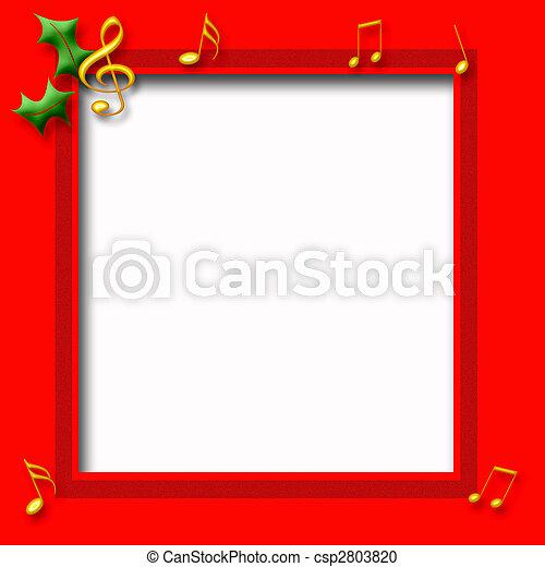 Christmas music poster - csp2803820