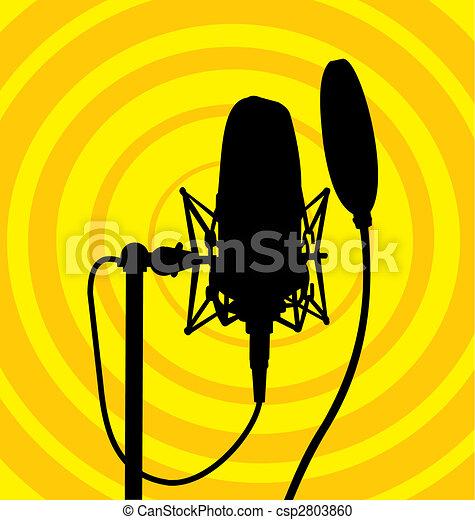 Studio microphone vector - csp2803860