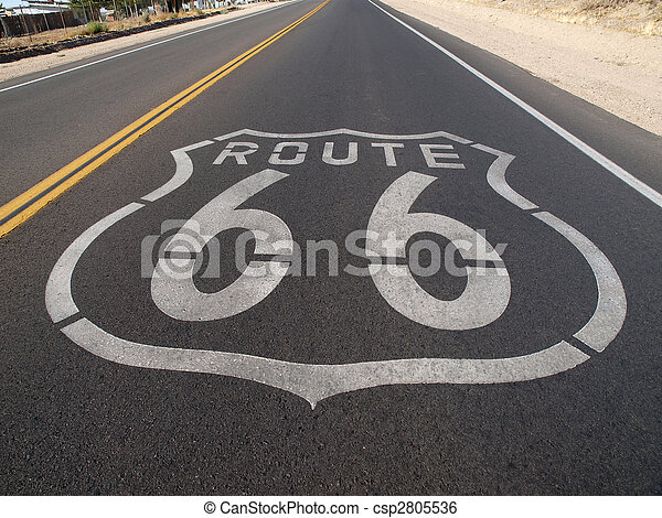 Route 66 Pavement Sign - csp2805536
