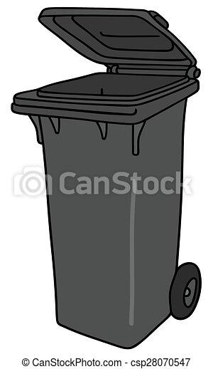 Vecteur eps de poubelle plastique hand dessin de a gris sombre csp28070547 - Dessin de poubelle ...