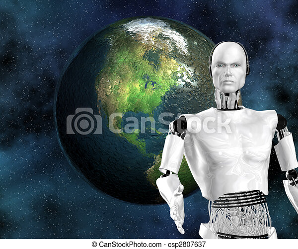 android, cybernetic intelligence machine - csp2807637