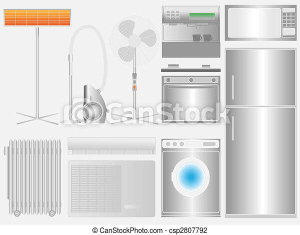 Household appliances on light background - csp2807792