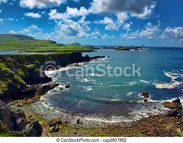 scenic capture from the ring of kerry, ireland - csp2807882