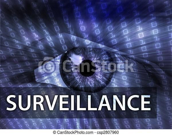 Surveillance illustration - csp2807960