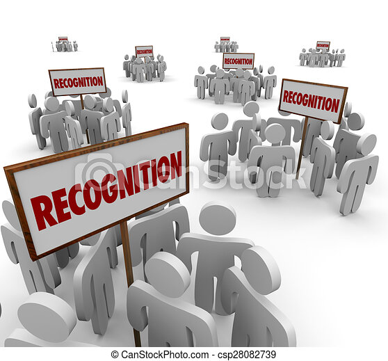Drawings of Recognition Word Signs Groups People Workers Employees ...