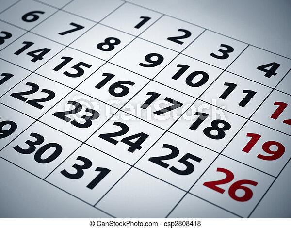 Calendar - csp2808418