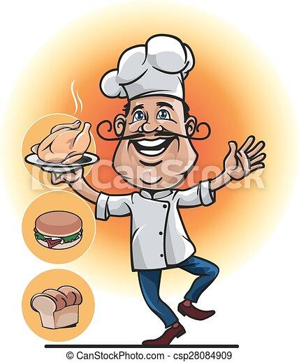 mascot professional chefs - csp28084909