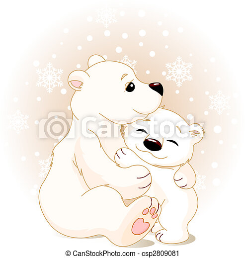 Mother and baby bear - csp2809081