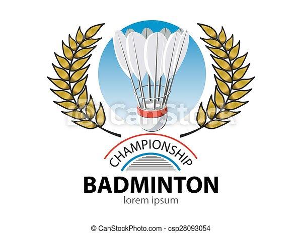 Badminton championship logo event - csp28093054