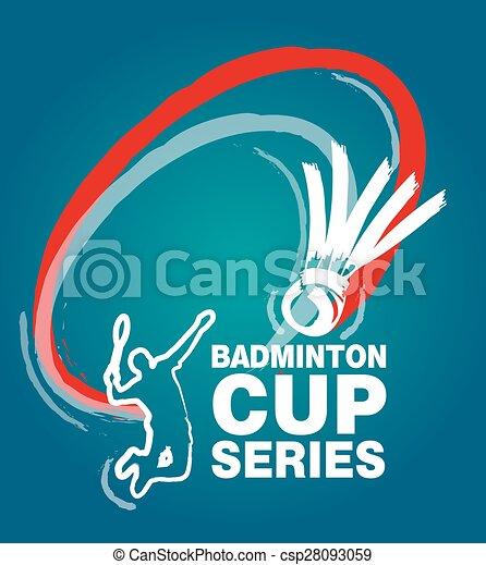 Logo for events badminton match - csp28093059