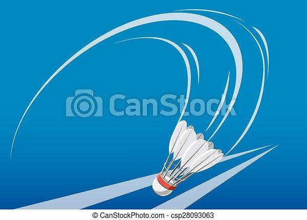 shuttlecock on badminton game - csp28093063