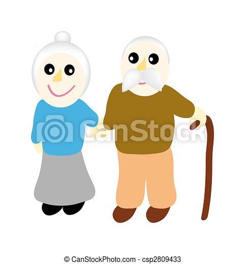 grandmother with grandfather - csp2809433