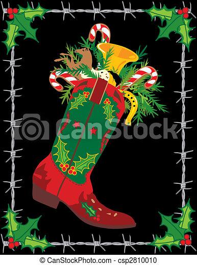 Cowboy Boot Stocking - csp2810010