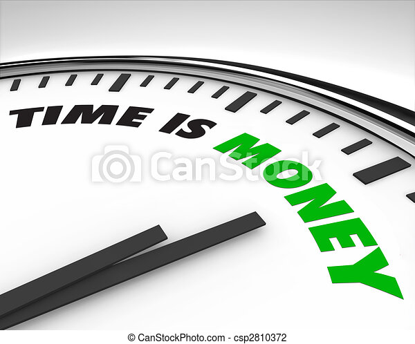 Time is Money - Clock - csp2810372