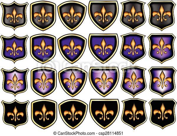 Fleur de lis emblems - csp28114851