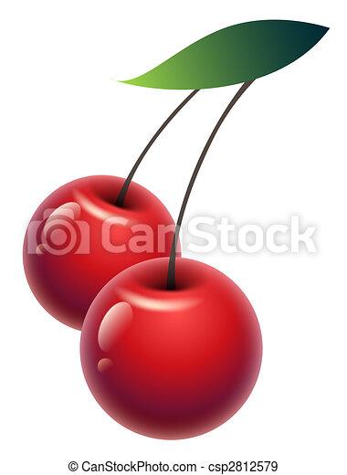 Illustration de cerise dessin doux cerise vert - Dessin cerise ...