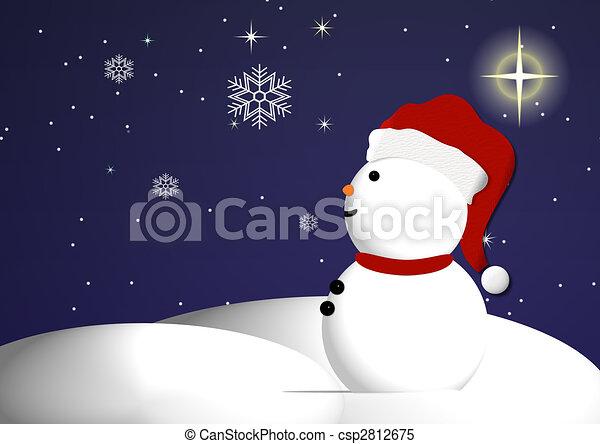 Snowman Wonder - csp2812675